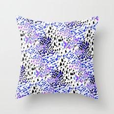 Purple splatters Throw Pillow