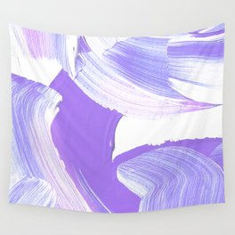 Shades of Purple Brush Stroke pattern #abstractart Wall Tapestry