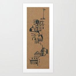 cute houses sketch Art Print