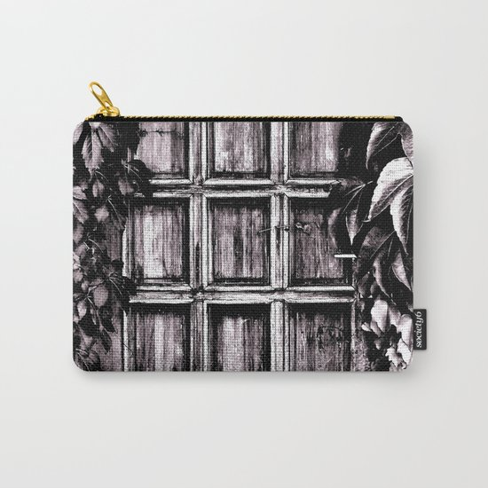 Black White Old Door Carry-All Pouch