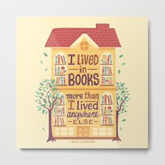 Lived in books Metal Print