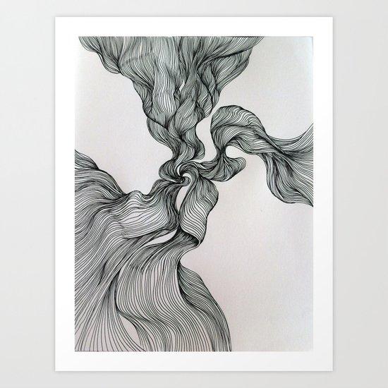 Drawing Weird Stuff Art Print