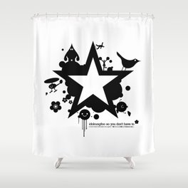 Bargain hunter gatherers character combustion Shower Curtain