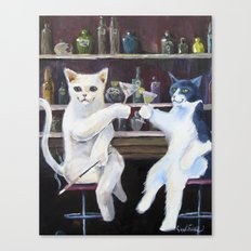 Social Cats  Canvas Print