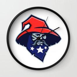 Warlock Stars on Beard Mascot Wall Clock