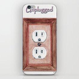 Unplugged iPhone Skin
