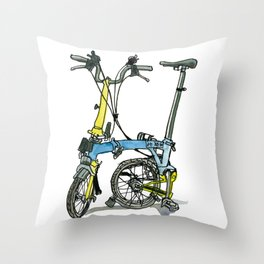 My brompton standing up Throw Pillow