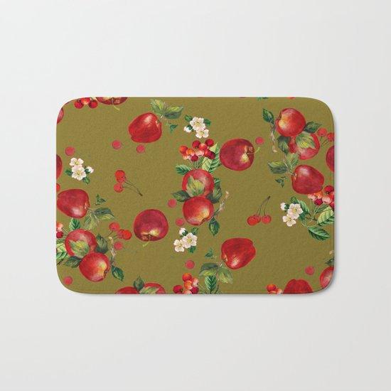 cherries and apples 3 Bath Mat