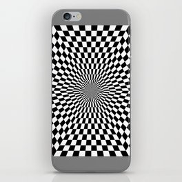 Checkered Hexagon iPhone Skin