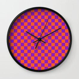 Checkered Pattern VIII Wall Clock