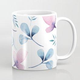 Romantic Watercolor Floral Print Coffee Mug