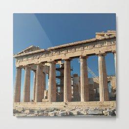 Parthenon, Acropolis of Athens, Greek photography, ancient Greece Metal Print