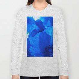 Blue Poppies #decor #society6 #buyart Long Sleeve T-shirt