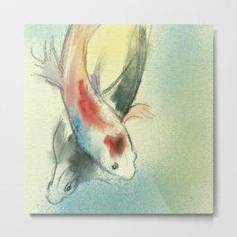 Koi Carp Fish Illustration Metal Print