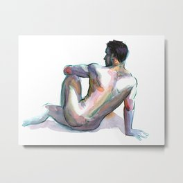BRYAN, Nude Male by Frank-Joseph Metal Print