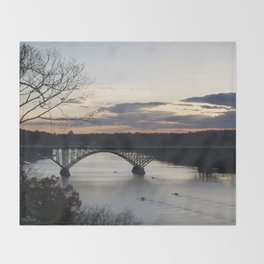 Boat House Row, Schuylkill River, PA Throw Blanket