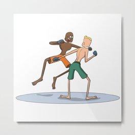 Mixed martial arts duel Metal Print