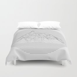 Mountain lines Duvet Cover