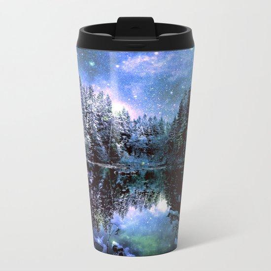 Mystical Winter Forest Metal Travel Mug
