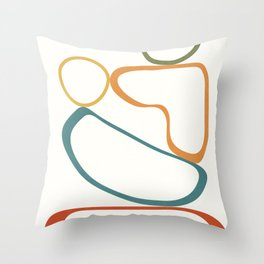 Colorful Flow I Throw Pillow