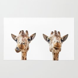 Funny Giraffe Portrait Art Print, Cute Animals, Safari Animal Nursery, Kids Room Poster, Wall Art Rug