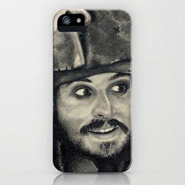 Captain Jack Sparrow ~ Johnny Depp Traditional Portrait Print iPhone Case