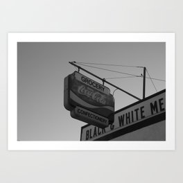 Black and White Grocery 2 Art Print