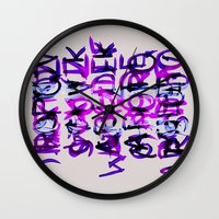 letters Wall Clocks featuring letters by Artemio Studio