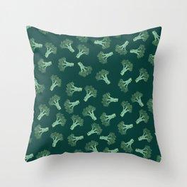 Broccoli color Throw Pillow