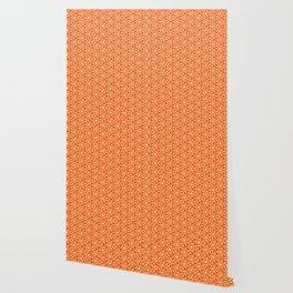 Bright Orange Geometrical Pattern Wallpaper