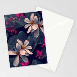 Mixed Tropical Floral in Twilight Stationery Cards