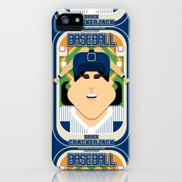 Baseball Blue Pinstripes - Deuce Crackerjack - Amy version iPhone Case