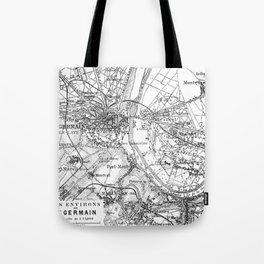 Vintage Paris Map Tote Bag