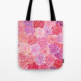 Watercolour Roses Tote Bag