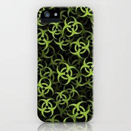 Biohazard (green on black) iPhone Case