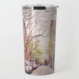 New York City - Springtime in the West Village Travel Mug