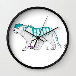 Teal Tiger Wall Clock