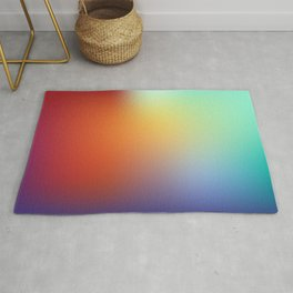 color gradient rainbow colors - abstract background Rug