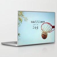 scripture Laptop & iPad Skins featuring Matthew Scripture Name Art by KimberosePhotography