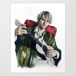 Portrait of Kurt Art Print