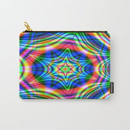 Colorful Abstract Waves Carry-All Pouch
