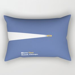Lab No. 4 - Move fast break things Mark Zuckerberg Inspirational Quotes Poster Rectangular Pillow