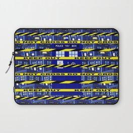 Yellow Line Tardis Laptop Sleeve