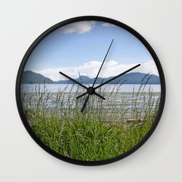 CRESCENT BEACH LOW TIDE ORCAS ISLAND Wall Clock