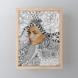 Tangled Face Framed Mini Art Print
