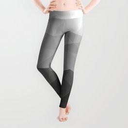 Low polygon monochromatic minimalism Leggings
