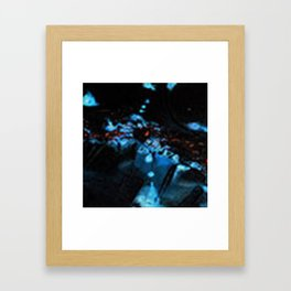 Abstract Black Blue Outer Space Galaxy Cosmos Jodilynpaintings Painting Framed Art Print