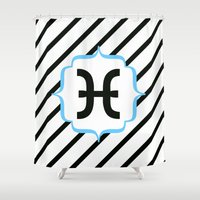 pisces Shower Curtains featuring Pisces  by Bee :)
