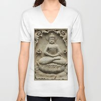 buddha V-neck T-shirts featuring Buddha by Falko Follert Art-FF77