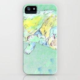 watercolor cat iPhone Case